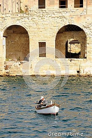 A Maltese fisherman Editorial Photography