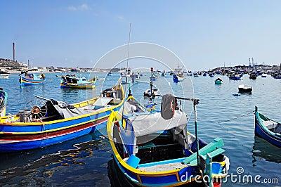 Maltese fishing boats