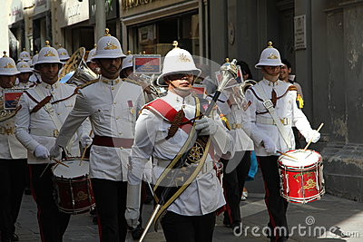 Maltese Military Marching Band Editorial Photography