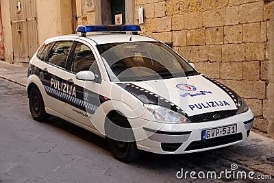 Malta police cruiser Editorial Photography