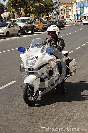 Malta police bike patrol Editorial Image