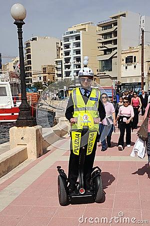 Malta police tourist patrol Editorial Stock Photo