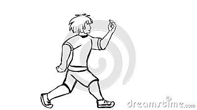 Malujący mężczyzna spacery zbiory wideo