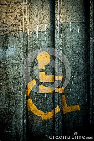 Malujący osoby kiści symbolu wózek inwalidzki