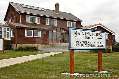 Malvina House Hotel - Stanley - Falkland Islands Editorial Stock Image