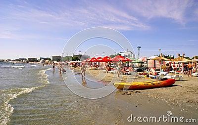 Mamaia Beach at the Black Sea Editorial Image