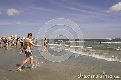 Mamaia Beach at the Black Sea Editorial Photography
