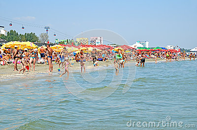 Mamaia beach in Romania Editorial Photography