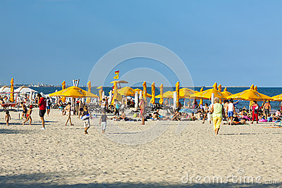 Mamaia beach, Romania Editorial Stock Image