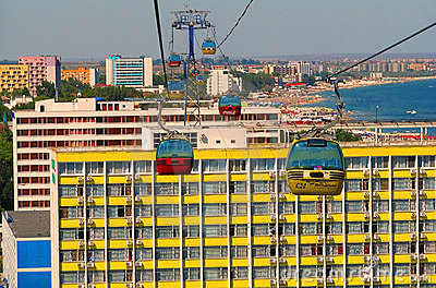 Mamaia Black Sea Resort (Romania) Editorial Image