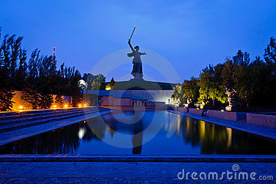 The Mamayev monument in Volgograd