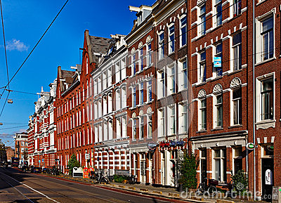 Marnixstraat in Amsterdam Editorial Image