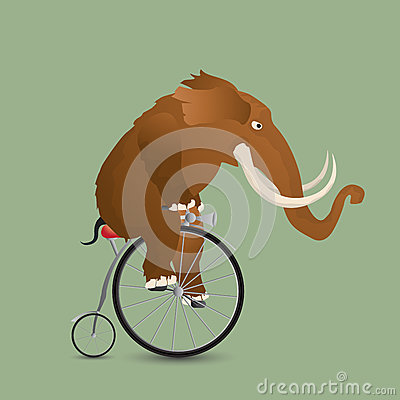 Mammoth on a bicycle
