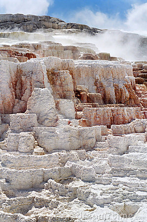 Free Mammoth Hot Springs Stock Image - 19093551