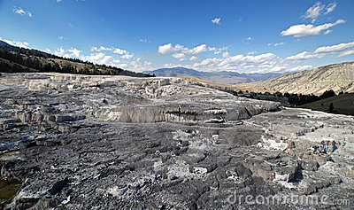 Mammoth Hot Springs Yellowstone.