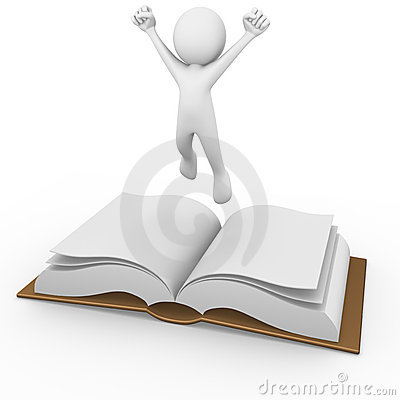 Man Above An Open Book Royalty Free Stock Photography - Image: 17242217