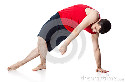 Man is an acrobat