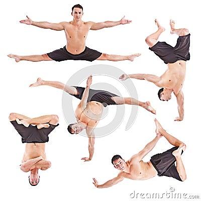 Man acrobatics gymnastic