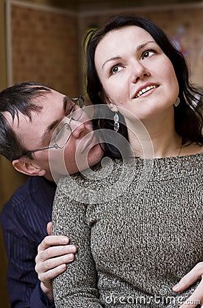 Man admiring his woman