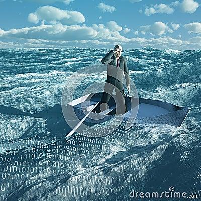 Man Adrift in binary ocean