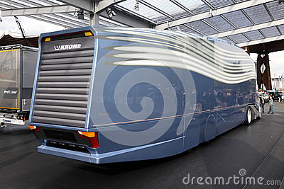 MAN Aerodynamic Concept Truck Editorial Stock Image