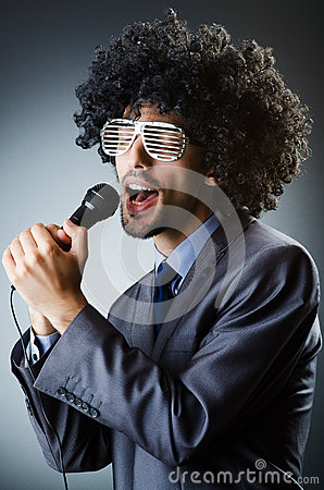 Man with afro haircut