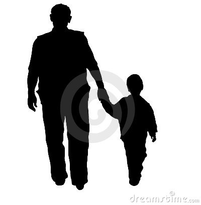Free Man And Child Silhouette Stock Photography - 3566442