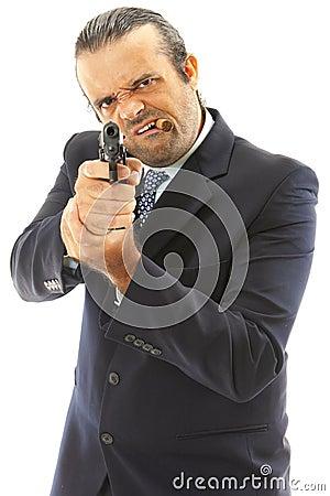 Free Man And Firegun Stock Photo - 18239720