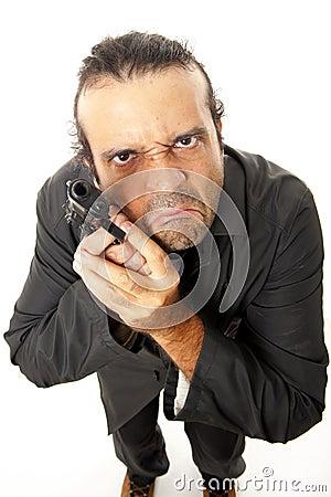 Free Man And Firegun Stock Image - 18333371