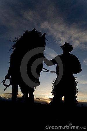 Free Man And Horse In Wind Stock Image - 13765591