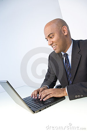 Free Man And Laptop Stock Photography - 5645552