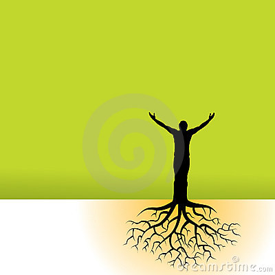 Free Man And Nature Illustration Royalty Free Stock Photography - 5386767