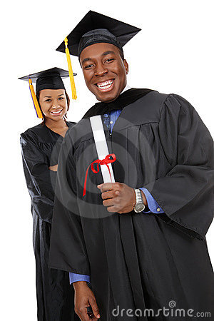 Free Man And Woman Graduates Royalty Free Stock Photo - 7698215