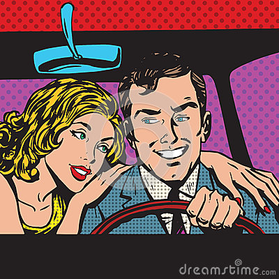 Free Man And Woman Pop Art Comics Retro Style Halftone Stock Image - 53213531
