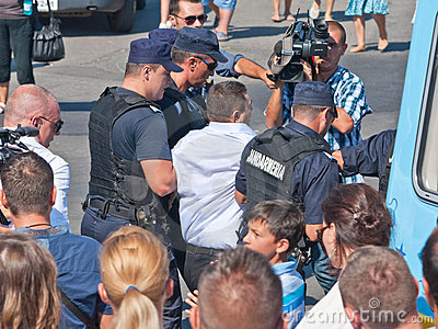 Man arrested at Navy Day Editorial Photography