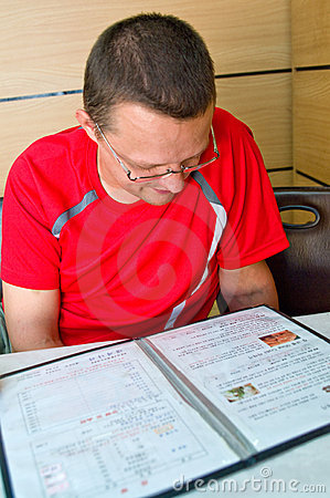 Man at asian restaurant