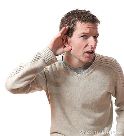 Young man asking question you talking to, mean me? — Stock Photo ...