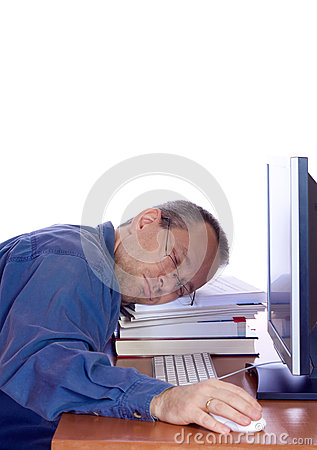 Tired computer guy