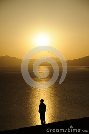 Free Man At Sunrise Stock Photography - 51326352