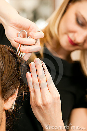Free Man At The Hairdresser Stock Images - 15750854
