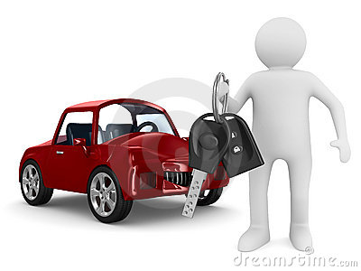 Man with automobile keys