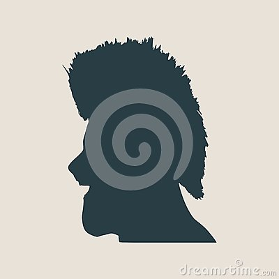 Man Avatar Profile View. Male Face Silhouette Cartoon ...