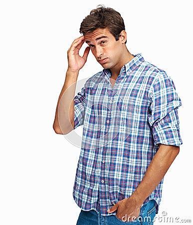 Man with awful headache