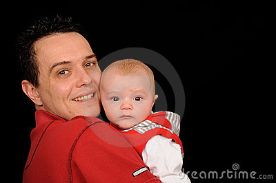 Man and baby son