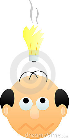 man with bad idea vector illustration