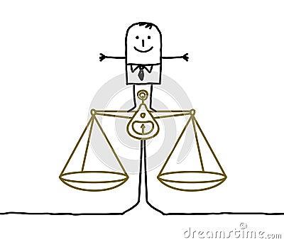 Man & balance, justice