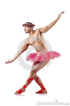 Man in ballet tutu
