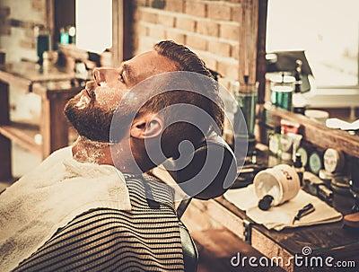 man in a barber shop stock photo image 56590313. Black Bedroom Furniture Sets. Home Design Ideas