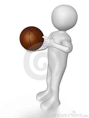 Man with basket ball