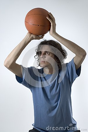Man With Basketball Stock Photo - Image: 6275920